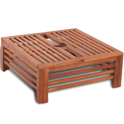 vidaXL Parasolvoetbedekking hout