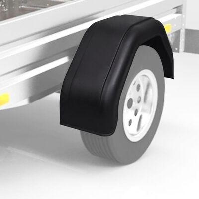 2 x Spatborden voor aanhanger wielen 220 x 760 mm