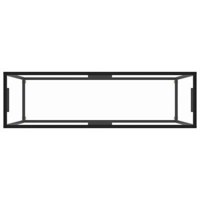 vidaXL Wandtafel 120x35x75 cm gehard glas transparant