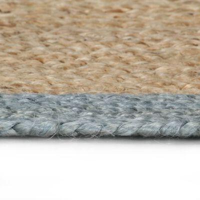 vidaXL Vloerkleed handgemaakt met olijfgroene rand 120 cm jute