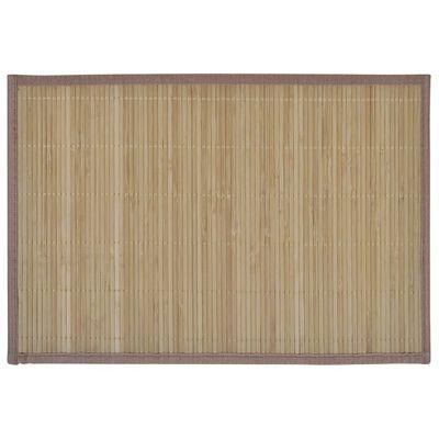 vidaXL 6 st Placemats 30x45 cm bamboe bruin