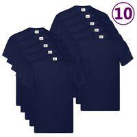 Fruit of the Loom T-shirts Original 10 st S katoen marineblauw