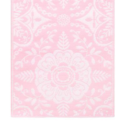 vidaXL Buitenkleed 80x150 cm PP roze