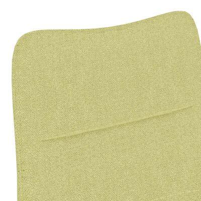 vidaXL Fauteuil stof groen