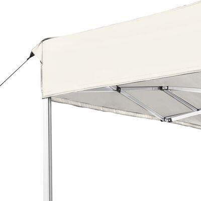 vidaXL Partytent professioneel inklapbaar 4,5x3 m aluminium crème