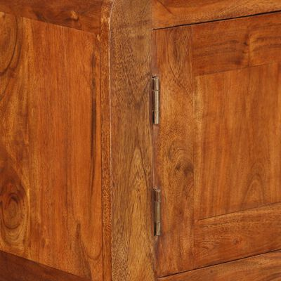 vidaXL Dressoir 120x30x75 cm massief hout met sheesham afwerking