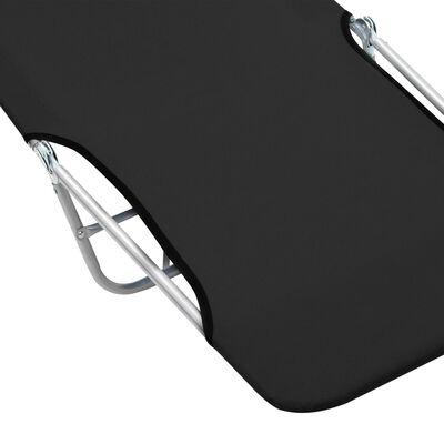 vidaXL Ligbedden inklapbaar 2 st staal en stof zwart