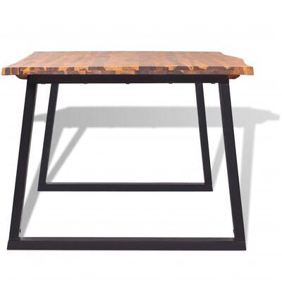 vidaXL Eettafel 200x90 cm massief acaciahout