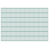vidaXL Dubbelstaafmatten 2,008x1,43 m 4 m (totale lengte) groen