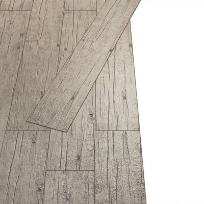 vidaXL Vloerplanken zelfklevend 5,02 m² 2 mm PVC washed eiken