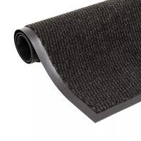 vidaXL Droogloopmat rechthoekig getuft 60x90 cm zwart