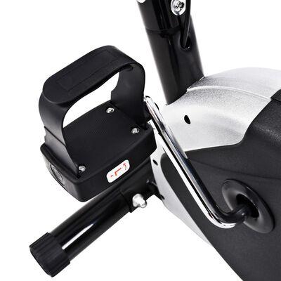 vidaXL Hometrainer met bandweerstand zwart