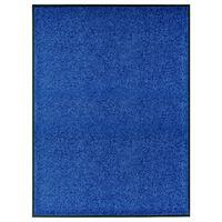 vidaXL Deurmat wasbaar 90x120 cm blauw