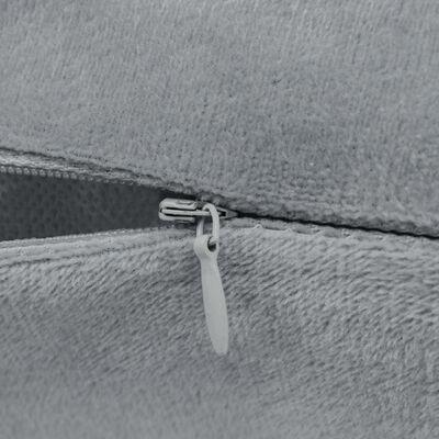 vidaXL Sierkussenset 45x45 cm velours grijs 2-delig