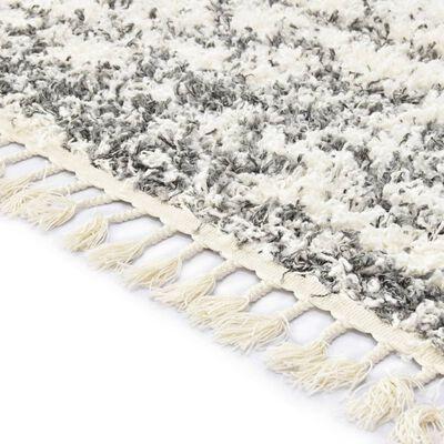 vidaXL Tapijt Berber shaggy hoogpolig 80x150 cm PP beige zandkleurig