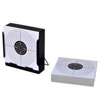 vidaXL Schietkast vierkant met 100 papieren targets 14 cm