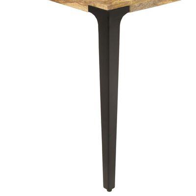 vidaXL Eettafel 140x70x76 cm massief mangohout