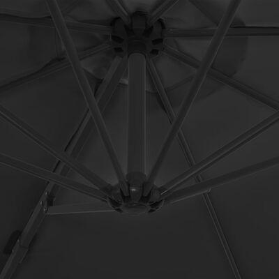 vidaXL Zweefparasol met stalen paal 300 cm antraciet