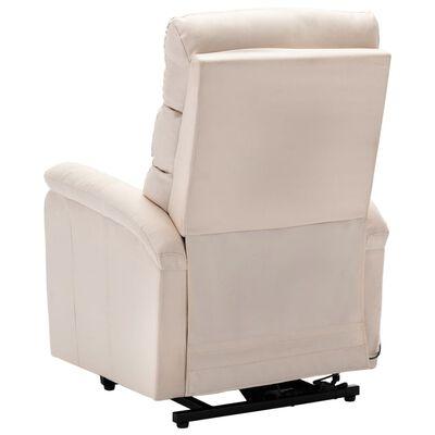 vidaXL Sta-op-stoel stof crèmekleurig