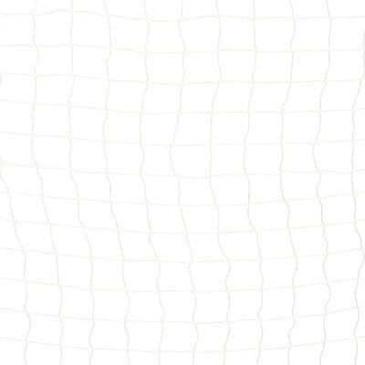 vidaXL Voetbaldoel 300x160x90 cm metaal zwart en wit