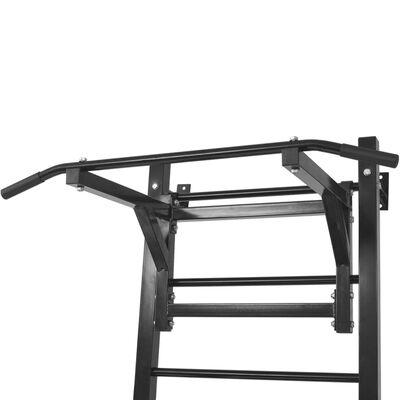 vidaXL Fitnessapparaat wandgemonteerd zwart