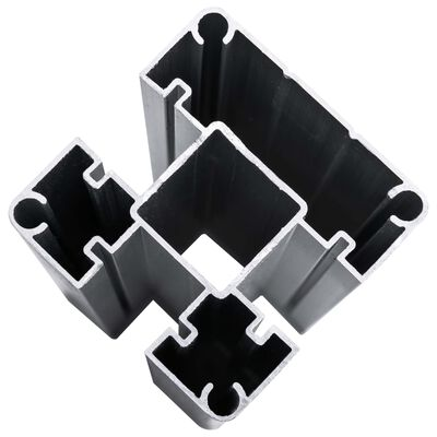 vidaXL Schuttingpanelenset 1830x(105-186) cm HKC zwart