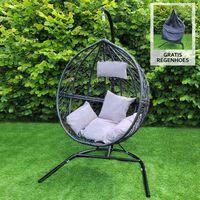 Hangstoel Egg Chair - Zwart - Max: 150 Kg