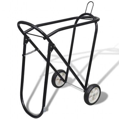 vidaXL Zadelrek met wielen inklapbaar metaal