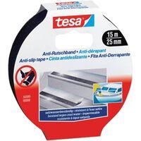 2x Tesa anti-slip tape zwart op rol 15 meter - Klusmateriaal -