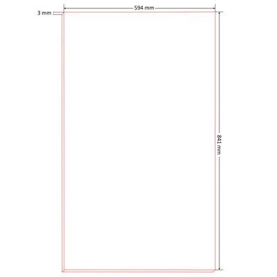 vidaXL Afficheborden DIN A1 HDF 841x594x3 mm 20 st