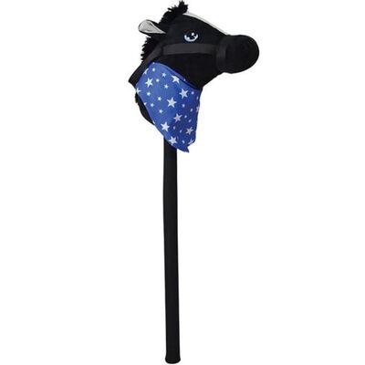 Zwart stokpaardje met geluid 68 cm voor kinderen - Stokpaarden met,