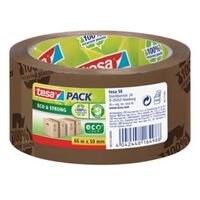 Tesapack eco & strong ecoLogo, ft 50 mm x 66 m, PVC, bruin