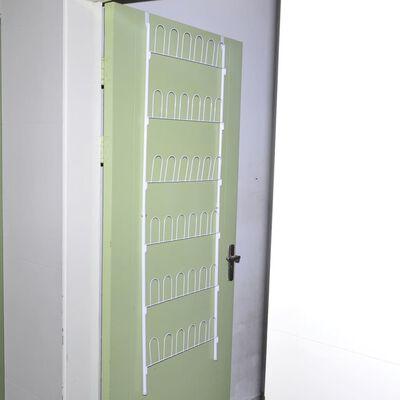 vidaXL Schoenenrek voor 18 paar schoenen staal wit
