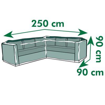 Nature Tuinmeubelhoes voor L-vormige ligbedden 250x90x90 cm