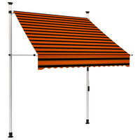 vidaXL Luifel handmatig uittrekbaar 150 cm oranje en bruin