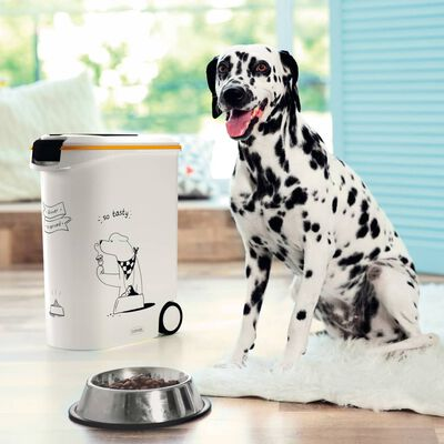 Curver Voedselcontainer Dinner is Served hond met wielen 54 L