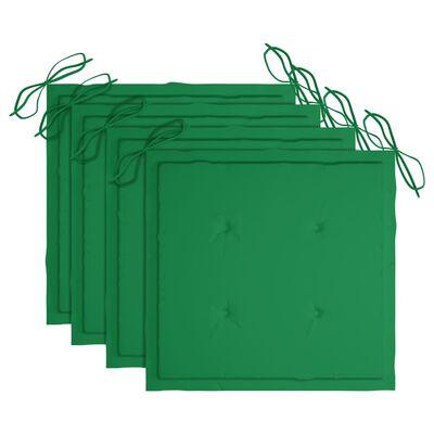 vidaXL Tuinstoelen 4 st inklapbaar met kussens massief acaciahout