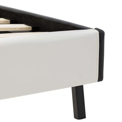 vidaXL Bedframe kunstleer wit en zwart 180x200 cm