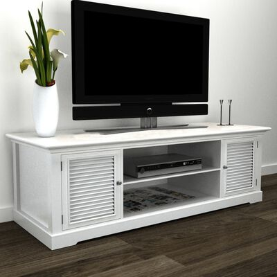 vidaXL Tv-meubel hout wit