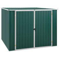 vidaXL Tuinschuur 195x198x159 cm gegalvaniseerd staal groen