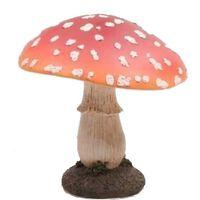 Decoratie beeldje van een paddestoel polyresin 15 cm - Herfst