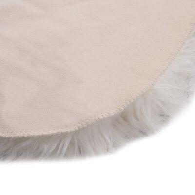 vidaXL Vloerkleed 60x90 cm kunstschapenvacht gemêleerd grijs