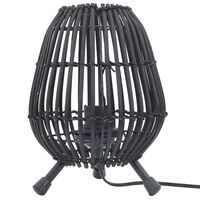 vidaXL Tafellamp 60 W E27 20x27 cm wilgen zwart