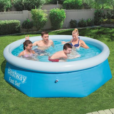 Bestway Zwembad opblaasbaar Fast Set rond 244x66 cm 57265