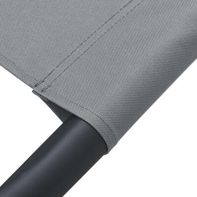 vidaXL Tuinbed 200x90 cm staal grijs