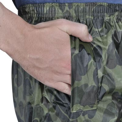 Regenpak 2-delig met capuchon (heren / camouflage / maat XXL)