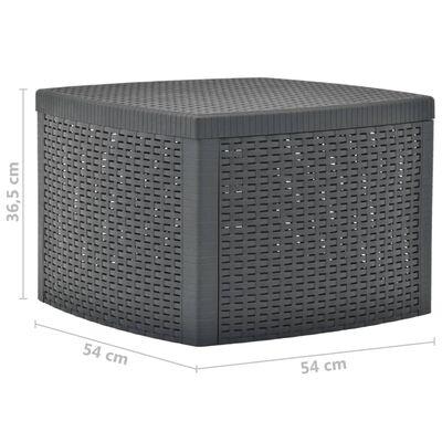 vidaXL Bijzettafel 54x54x36,5 cm kunststof antraciet