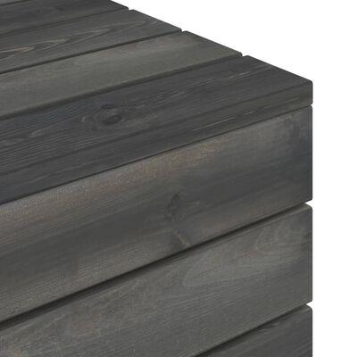 vidaXL Tuintafel pallet massief grenenhout donkergrijs