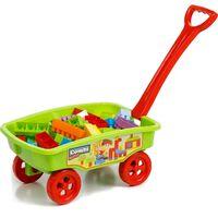 Paradiso Toys blokkenwagen 69 cm groen 50-delig