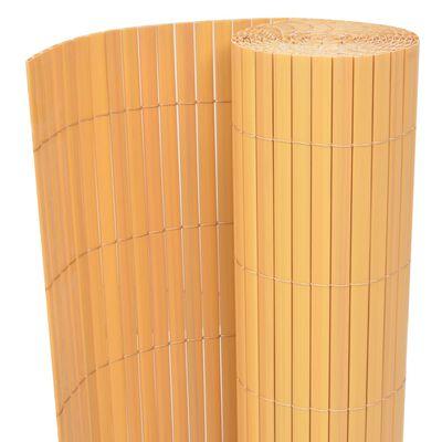 vidaXL Tuinafscheiding dubbelzijdig 170x500 cm geel